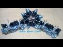 Kanzashi 116 - Como fazer Flor de Tecido Cetim , Conjunto para cabelo! DIY. PAP - Flower / 簪