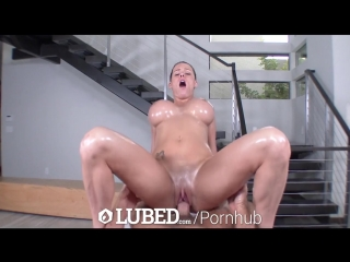 LUBED - Peta Jensen's perfect wet body fucked with facial