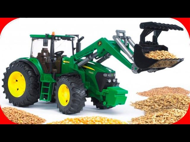 Pracowity Traktorki Praca i Zabawki na Farmie Agricultural Machinery Bajki dla dzieci