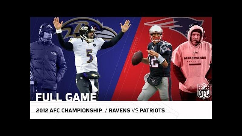Ravens vs. Patriots: 2012 AFC Championship   Joe Flacco vs. Tom Brady   NFL Full Game