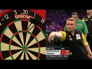 Northern Ireland vs Germany (PDC World Cup of Darts 2017 / Round 1)