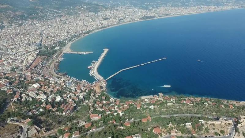 Аланья Турция крепость Кале с высоты птичьего полета Alanya Turkey Kalesi fortre