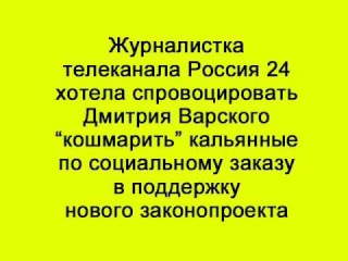 """Журналистка телеканала Россия 24 хотела спровоцировать Дмитрия Варского """"кошма..."""