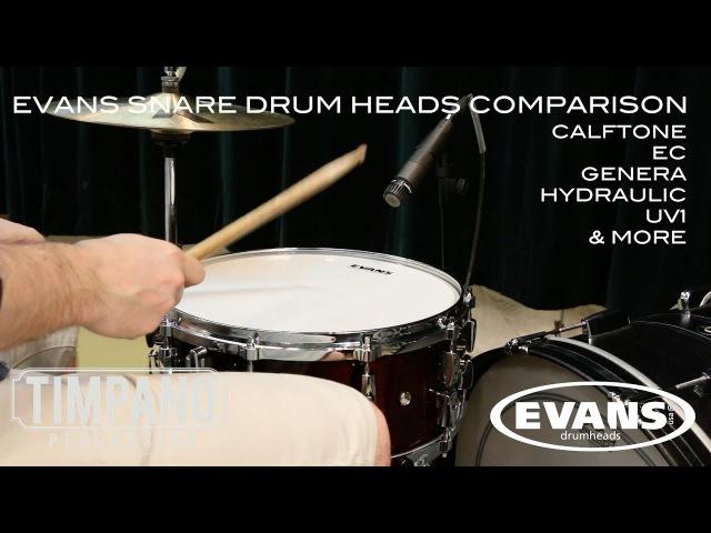 МУЗИМПОРТ Сравнение пластиков Evans для малого барабана G1 G2 HD HDD EC REVERSE DOT ST CALFTONE POWER CENTER HYDRAULIC UV1 GENERA DRY