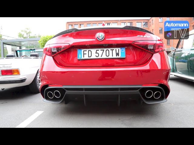 2017 Giulia Quadrifoglio (510hp) - Exhaust SOUND (60FPS)