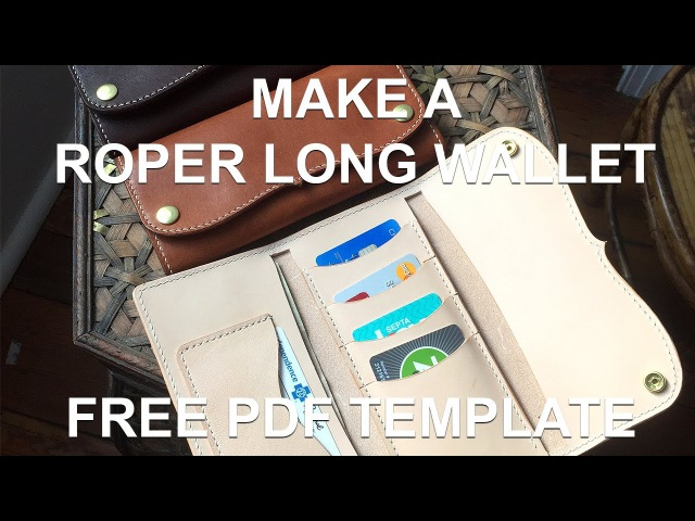 Make A Leather Roper Style Long Wallet Free PDF Template