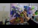 Букет сирени промо. Татьяна Зубова. Lilac oil painting. Tatiana Zubova