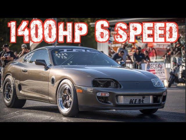 1400HP 6 speed Supra Beats EVERYONE Wins $5000