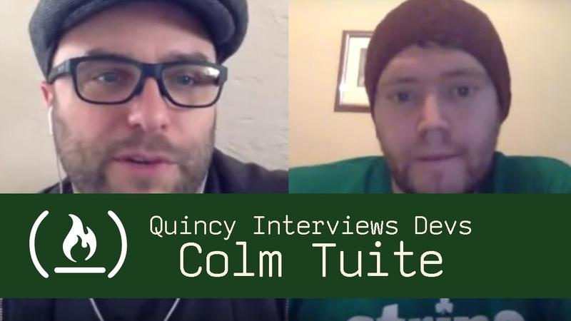 Designer and Entrepreneur Colm Tuite - Quincy Interviews Devs