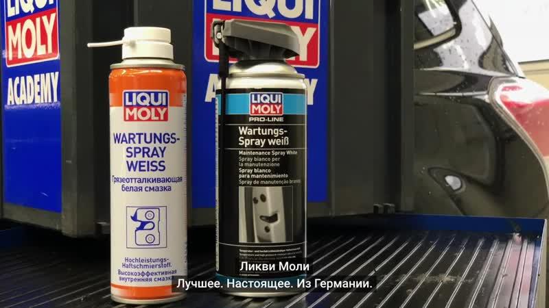Грязеотталкивающая белая смазка Wartungs-Spray weiss LIQUI MOLY.