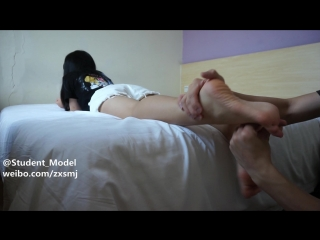 Tickle chinese girl student
