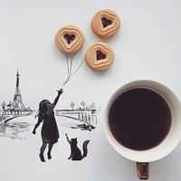 "Логотип Скетчинг клуб Тольятти: ""Скетчи и кофе"""