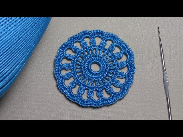 Как связать ажурный мотив круг вязание крючком для новичков Education crochet