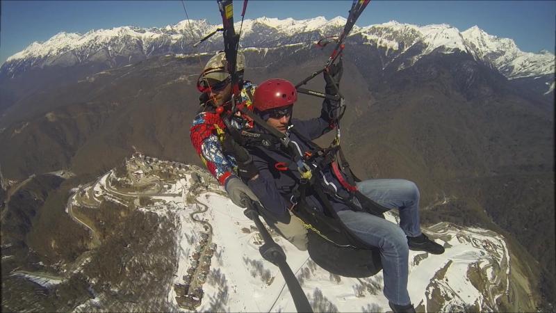 Полет на параплане Параплан Сочи Роза Хутор Роза Пик 2320 метров