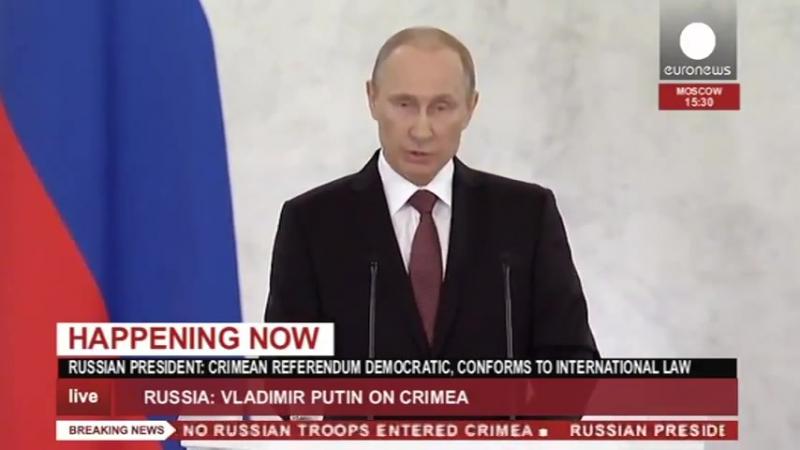 Euronews Євроньюз Євроновини Наживо промова Владіміра Путіна у парламенті щодо приєднання Криму 18 березня 2014
