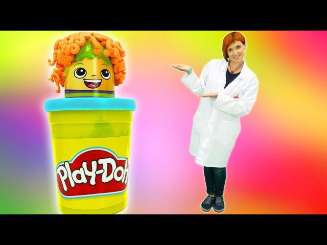 Видео для детей Веселая ШКОЛА 👧👦 ИГРЫ с Плей До лечим БАБОЧКУ с Машей Капуки