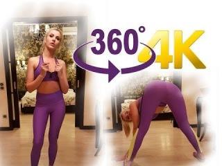 Видео 360 градусов. Сексуальная модель Плейбой