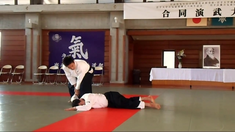 Ueshiba Mitsuteru Waka Sensei at the 45th Iwate University Aikido Demonstration