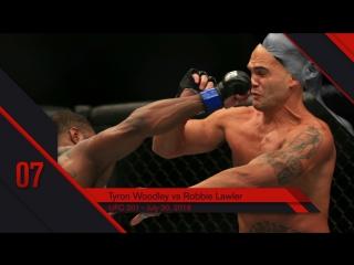 UFC Top 10 KOs of 2016 # 7 Tyron Woodley KO Robbie Lawler