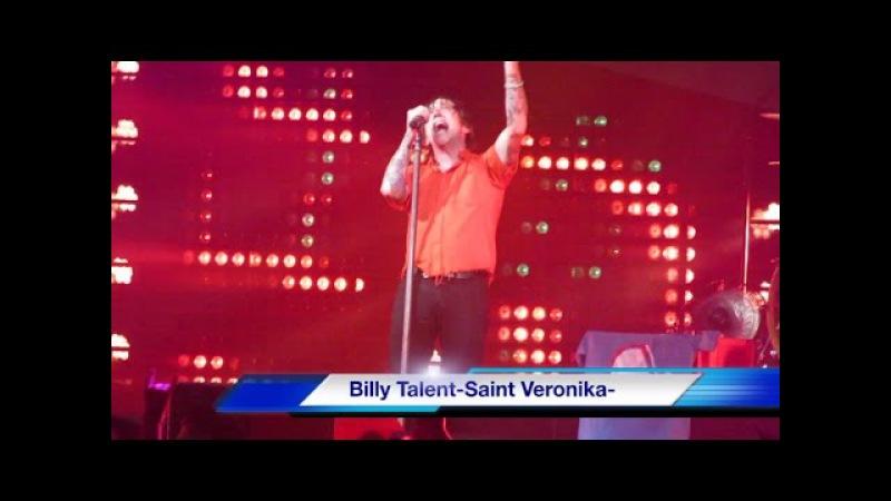 Billy Talent au centre vidéotron le 2 mars 2017 Saint Veronika