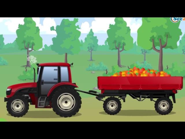 Traktory Prace Na Farmie Maszyny Rolnicze Bajka Dla Dzieci po polsku