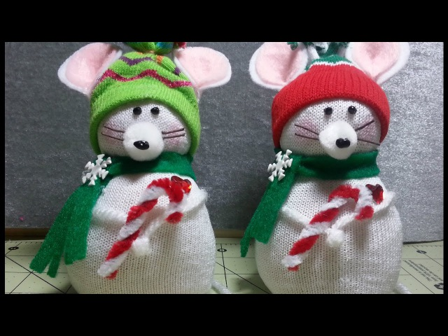 DIY~Adorable Christmas Mouse Made From D.T. Sock! EASY NO-SEW!