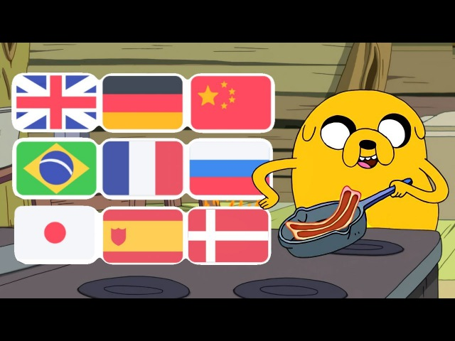 Adventure Time Bacon Pancakes Song In Various Languages