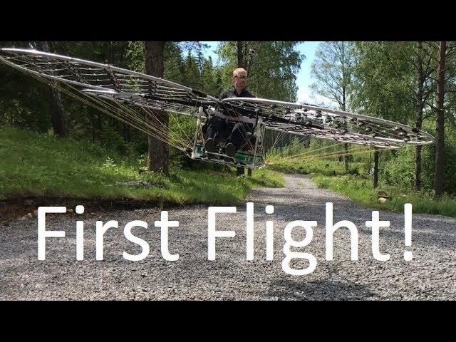Manned multirotor Part 20 -First Flight!