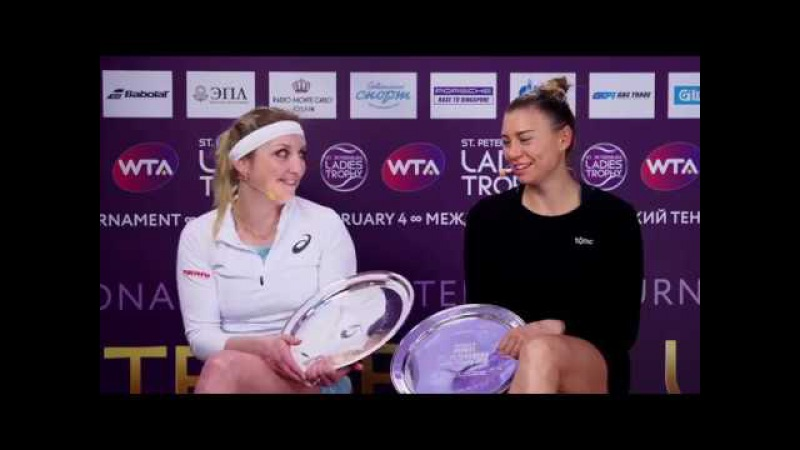 Bacsinszky Timea Zvonareva Vera WTA Ladies Trophy 04 02 18