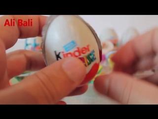 Сюрпризы 20 шоколадных яиц сюрпризов Киндер сюрпризы видео 15 минут