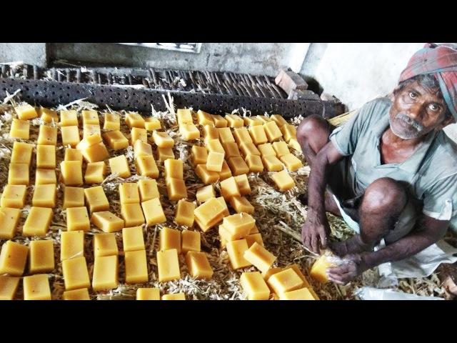Jaggery Making With Farm Fesh Sugarcane Juice In My Village Making Of Gurr Bellam Panela