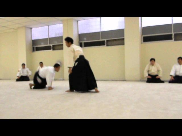 Waka Sensei (Mitsuteru Ueshiba) Katate dori Shiho nage