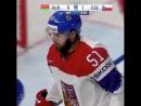 Шайба Романа Горака в игре с Беларусью