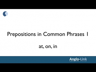Prepositions in Common Phrases #1 - English Speaking and Grammar Lesson