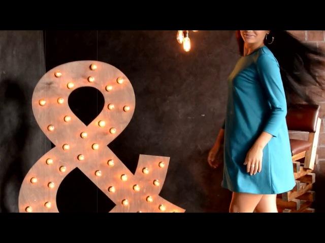 Платье трапеция в цвете петрол П 095 Мода37 одежда оптом от производителя