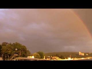 Полная радуга над  дачей патриарха в Дивноморске