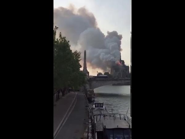 Notre Dame de Paris on fire 15 04 2019