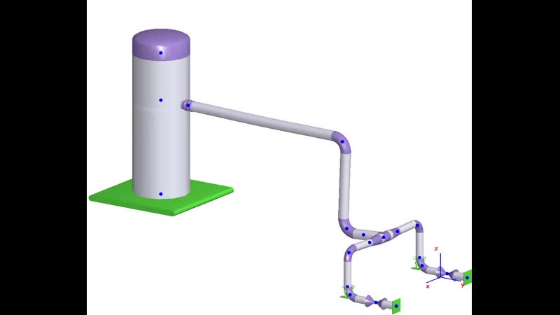 Моделирование вертикальных аппаратов с учетом податливости штуцера в СТАРТ-ПРОФ