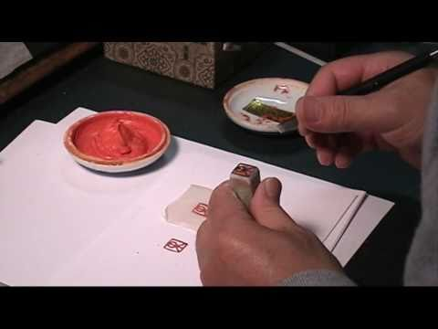 Engraving a Custom Design Siganiture Chop on Chinese Soapstone Seal
