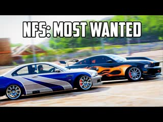 [fresh] forza horizon 4 воссоздание nfs most wanted bmw m3 купера против ford mustang gt рэйзора!