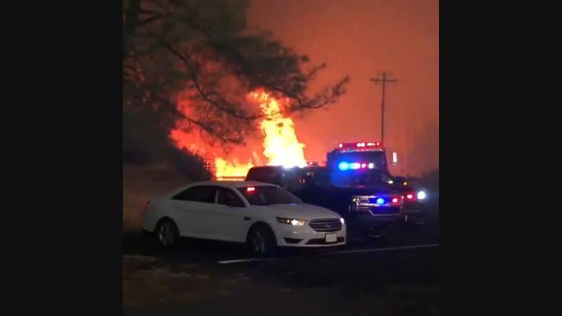Лесной пожар в округе Бьютт штата Калифорния (США, 8 ноября 2018).