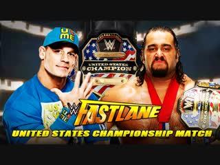 (WWE Mania) Fast Lane 2015 John Cena vs Rusev - United States Championship