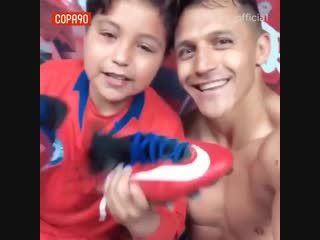 Alexis Sanchez gave this young Chile fan his full kit