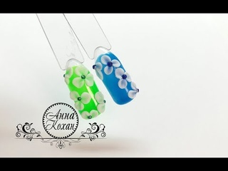 🌺BLUESKY 4D Carving Gel nail art🌺Обьемная лепка цветов 4D пластилином🌺Дизайн ногтей🌺МК Анна Кохан🌺