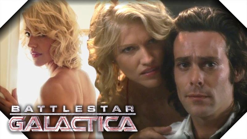 Battlestar Galactica All Of Gaius Baltar's Visions of Number Six Season 1