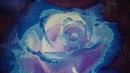 289 Алмазная вышивка Голубая роза Готовая работа
