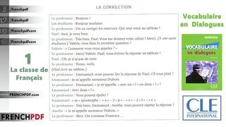 ЪChapitre  classe de Franais - La correction Vocabulaire en Dialogues Niveau dbutant