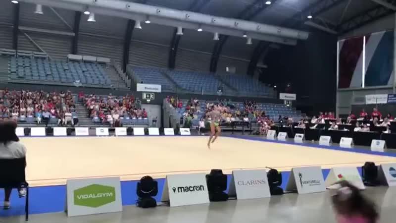 Александра Солдатова - булавы (многоборье) Этап Мирового Кубка Вызова 2019, Портимао