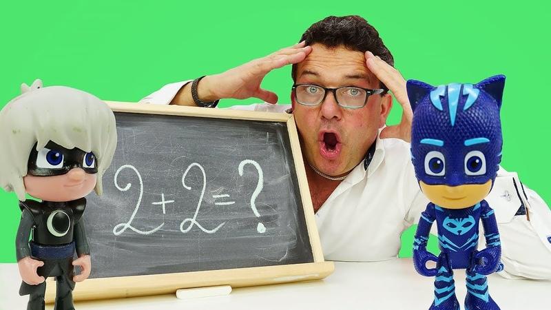 PJ Masks aprendiendo a sumar Vídeos de juguetes para niños