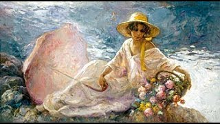 Woman in Painting by Jose Royo Spanish Nostalgia Spain Fine Art HD